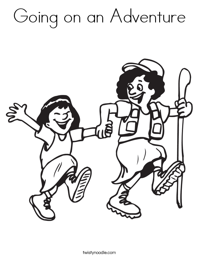Going on an Adventure Coloring Page