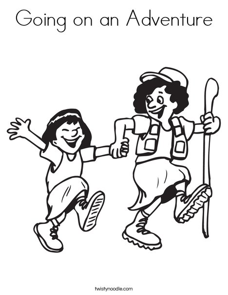Hiking Coloring Page