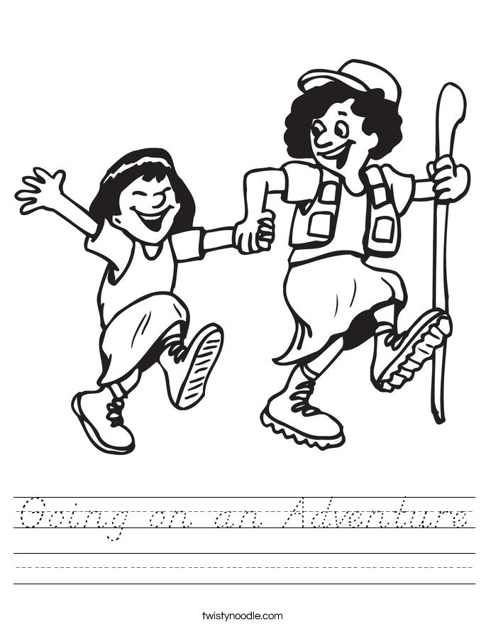 Going on an Adventure Worksheet