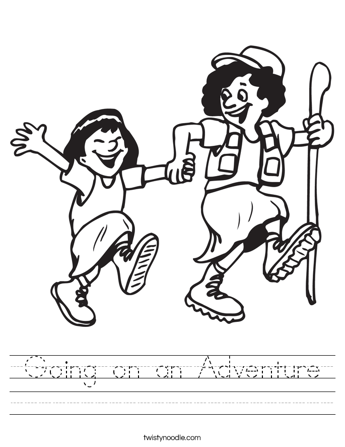 Going on an Adventure Worksheet