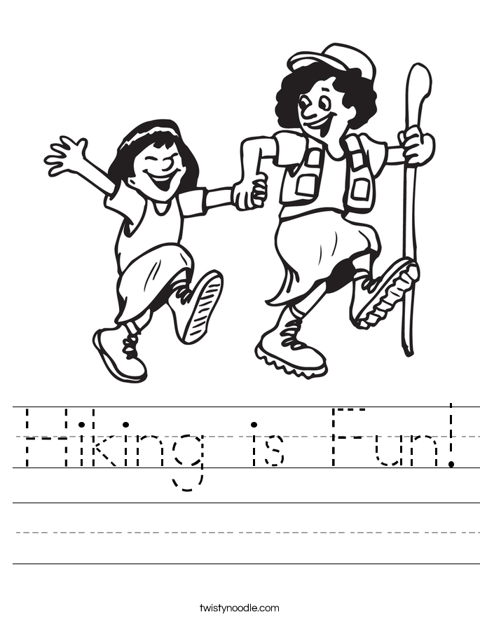 Hiking is Fun! Worksheet