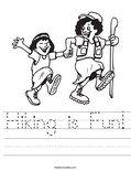 Hiking is Fun! Worksheet