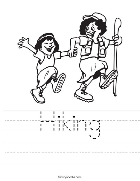 Hiking Worksheet