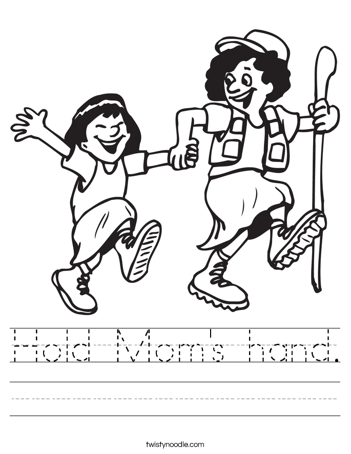 Hold Mom's hand. Worksheet