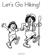 Let's Go Hiking Coloring Page
