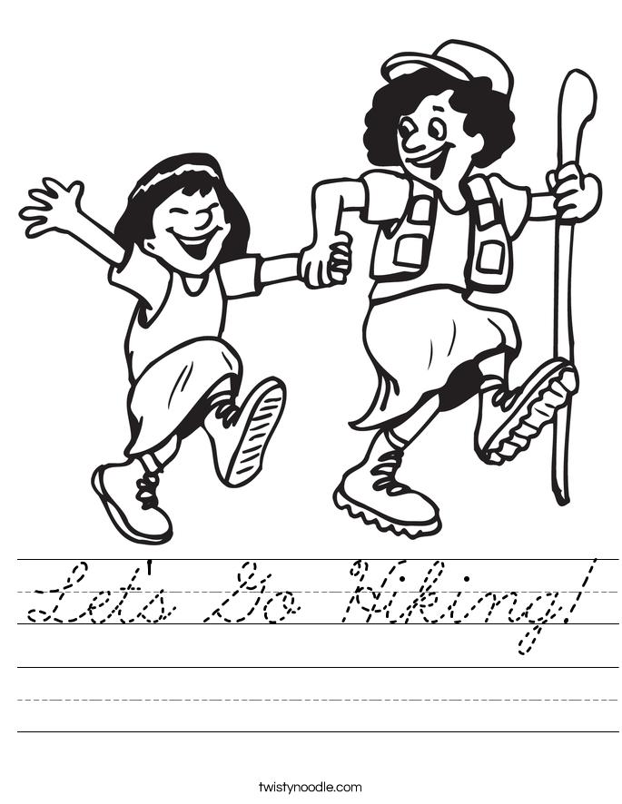 Let's Go Hiking! Worksheet