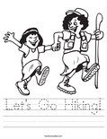 Let's Go Hiking! Worksheet