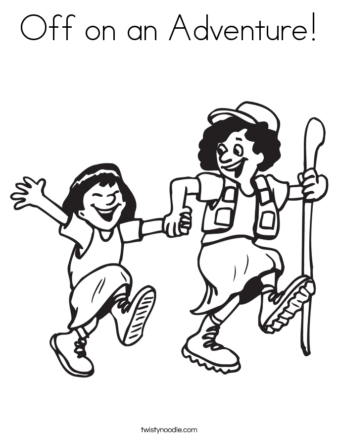 Off on an Adventure! Coloring Page