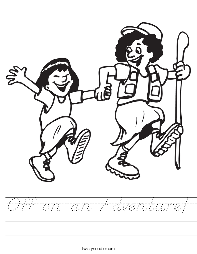 Off on an Adventure! Worksheet