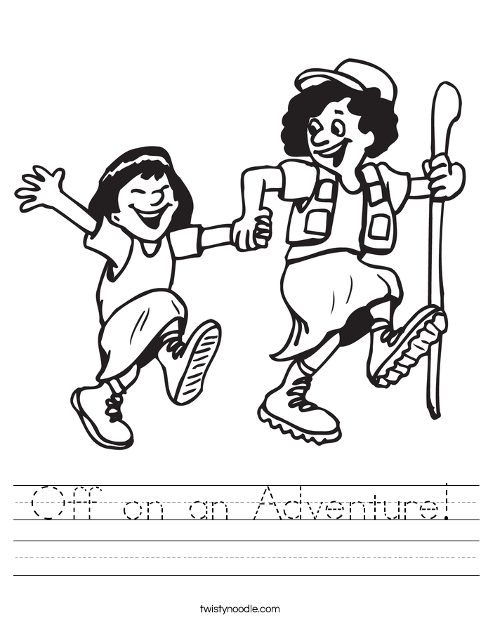 Off on an Adventure! Worksheet