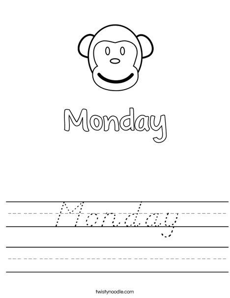 Monday Worksheet
