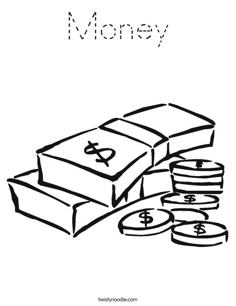 Money Coloring Page