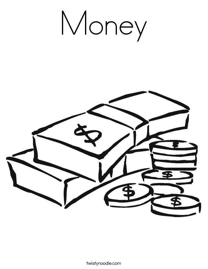 coloring pages money math