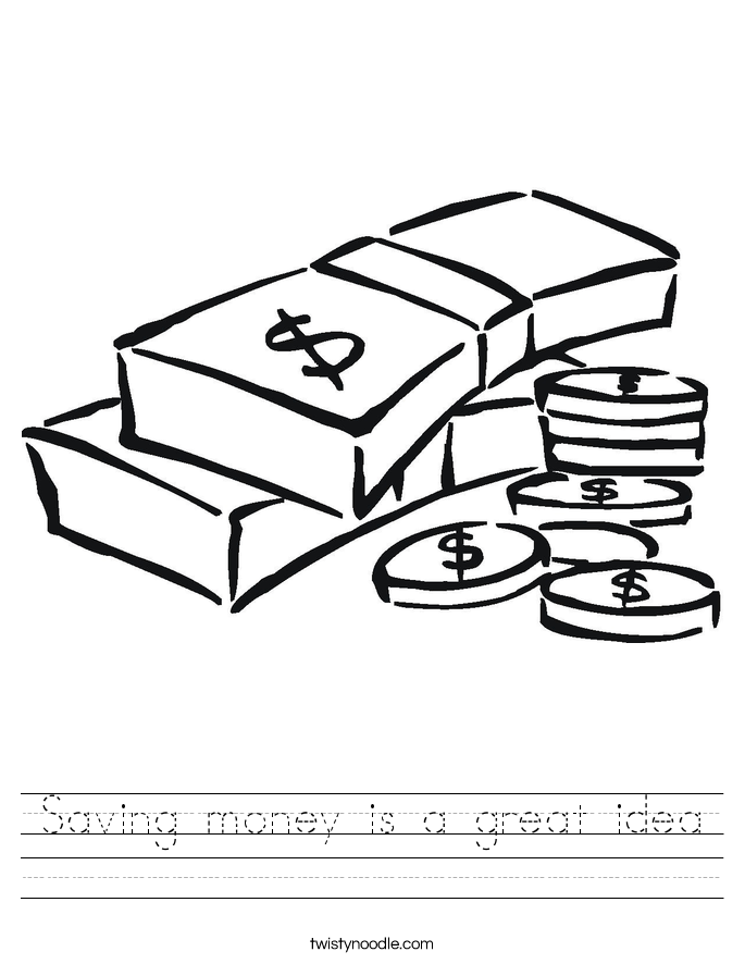Saving money is a great idea Worksheet
