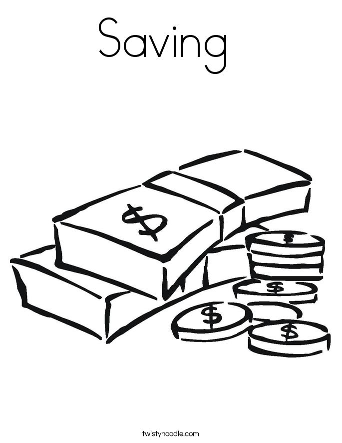 Saving  Coloring Page