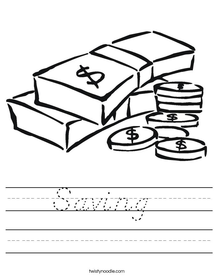 Saving  Worksheet