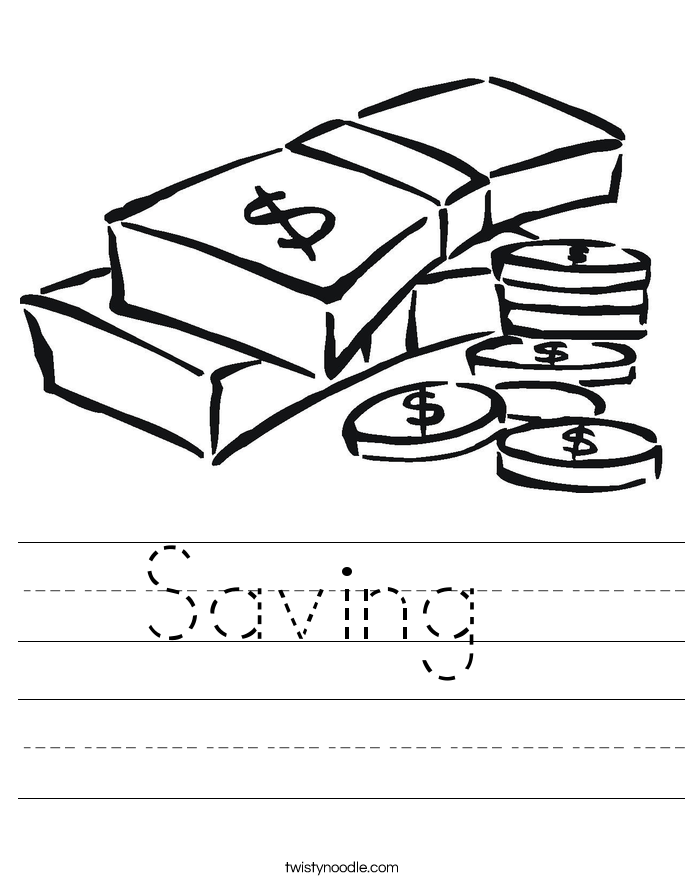 Saving  Worksheet