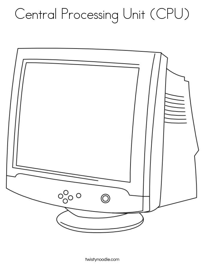 Central Processing Unit (CPU) Coloring Page