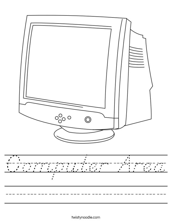 Computer Area Worksheet