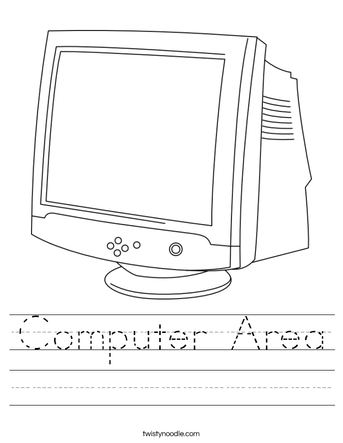 Computer Area Worksheet