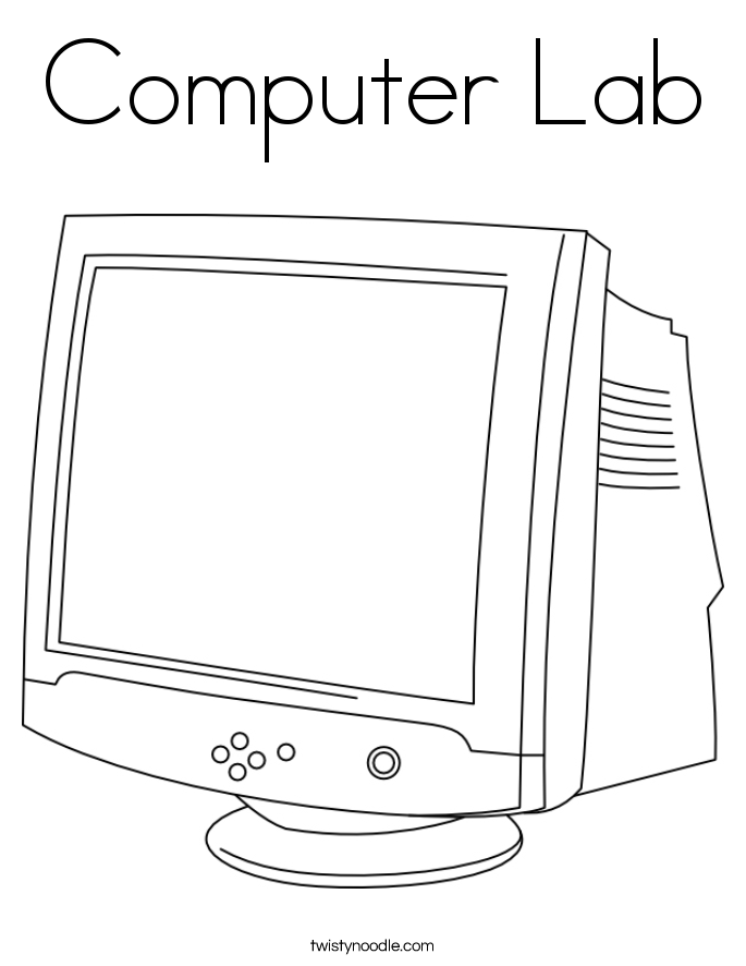 Computer Lab Coloring Page