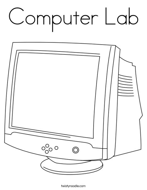 Monitor Coloring Page