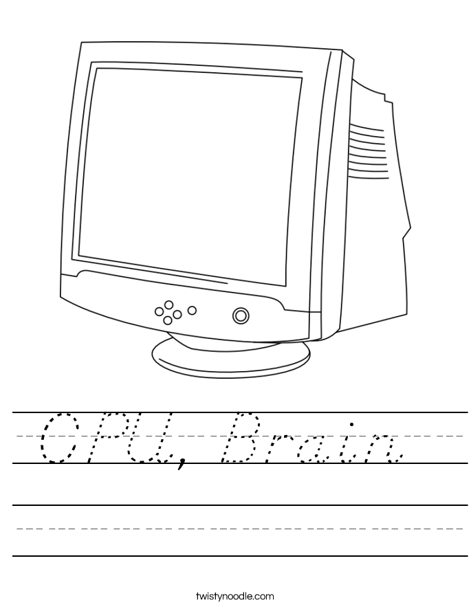 CPU, Brain  Worksheet