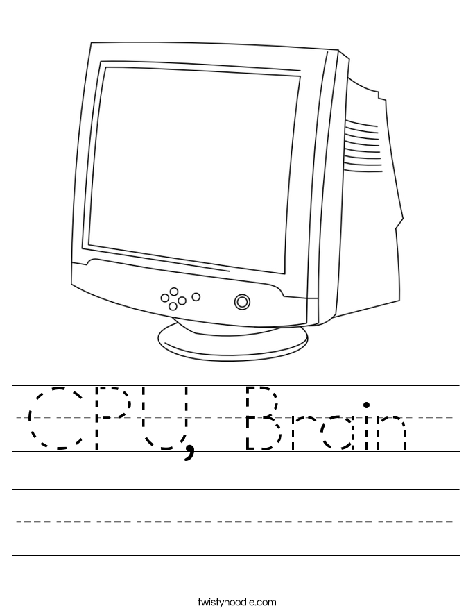 CPU, Brain  Worksheet