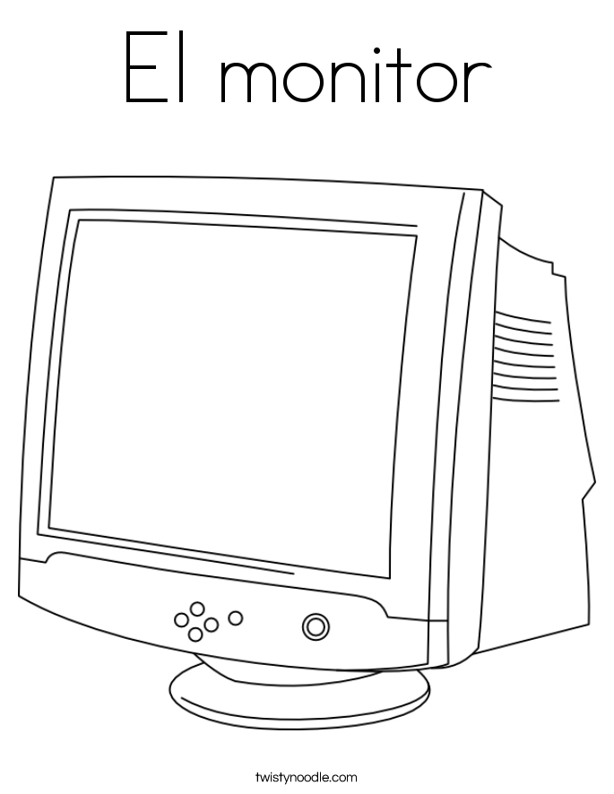 El monitor Coloring Page