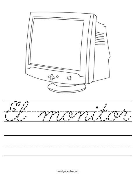 Monitor Worksheet