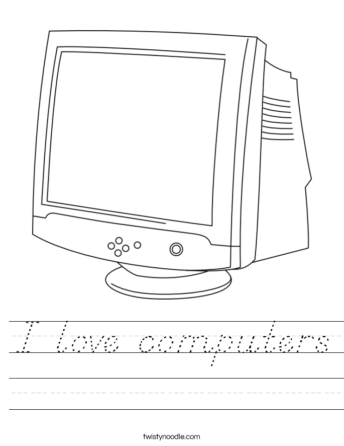 I love computers Worksheet