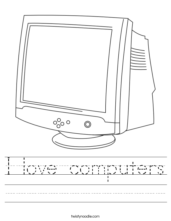 I love computers Worksheet