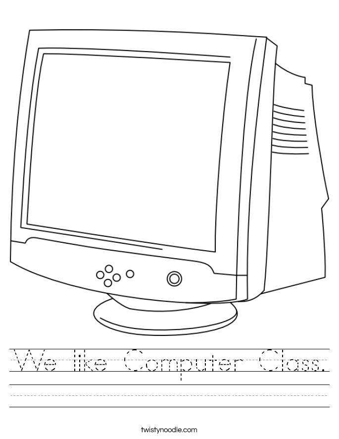 We like Computer Class. Worksheet