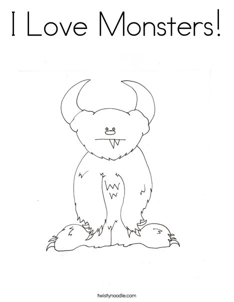 Monster By Melissa Coloring Page