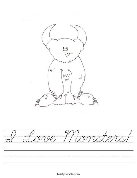 Monster by Melissa Worksheet