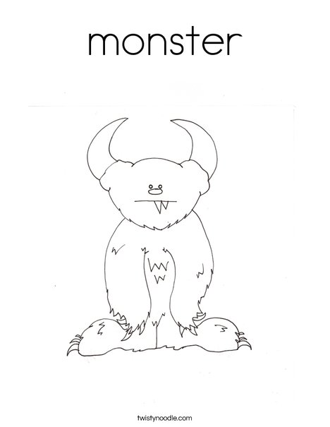 friendly monster coloring pages - photo#5