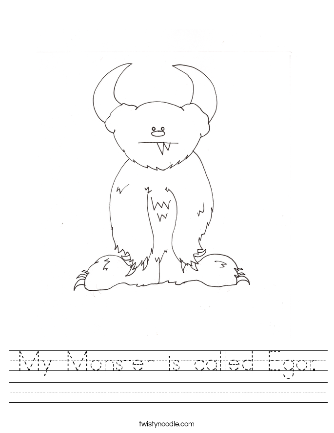 My Monster is called Egor. Worksheet