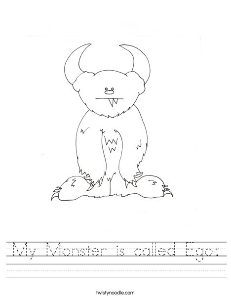 Monster by Melissa Worksheet
