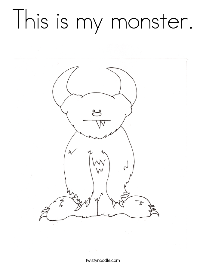 This is my monster. Coloring Page