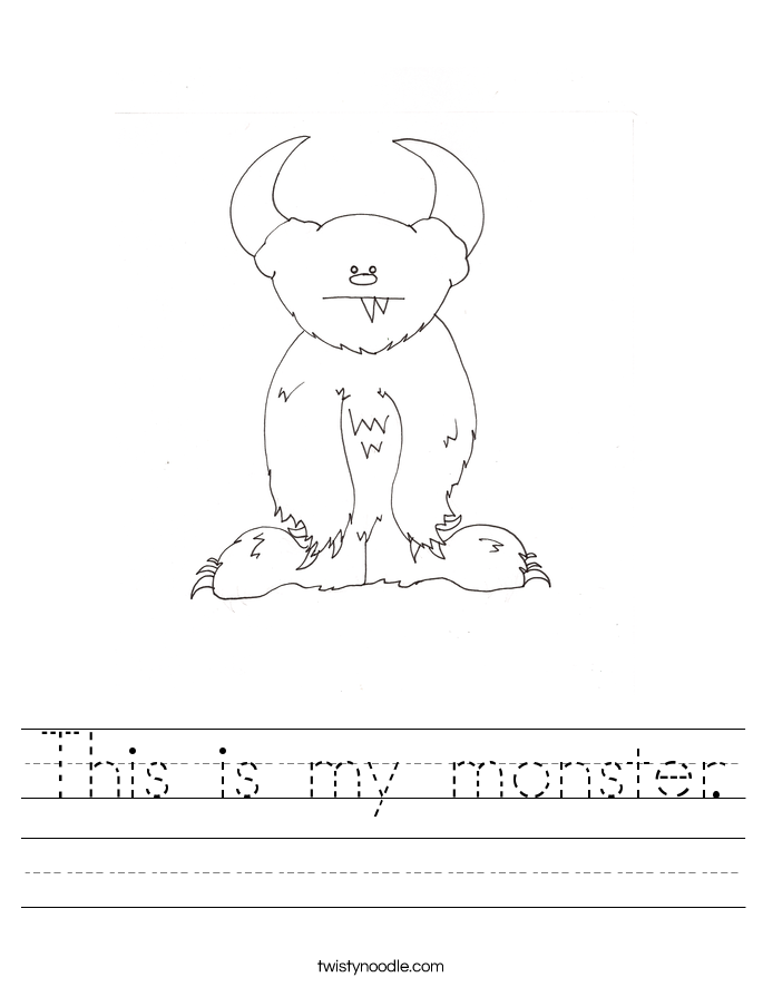 This is my monster. Worksheet