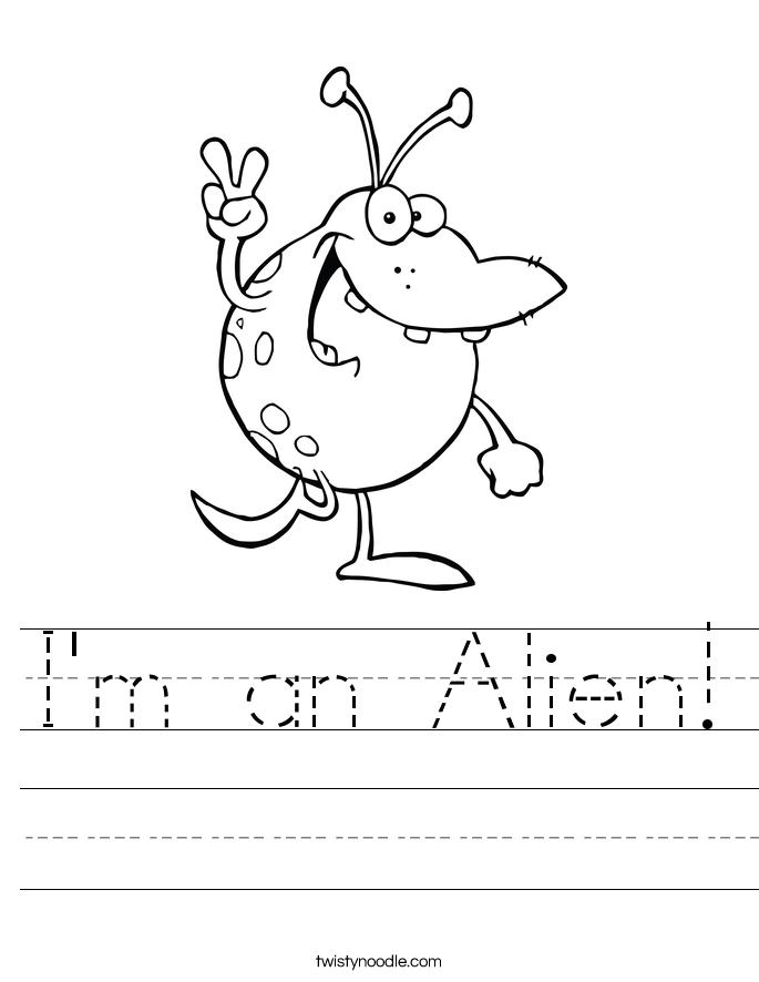 I'm an Alien! Worksheet