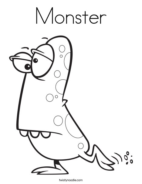 Monster with Spots Coloring Page