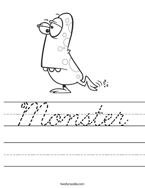 Monster with Spots Worksheet