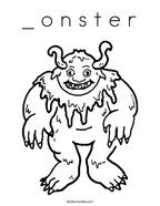_ o n s t e r Coloring Page