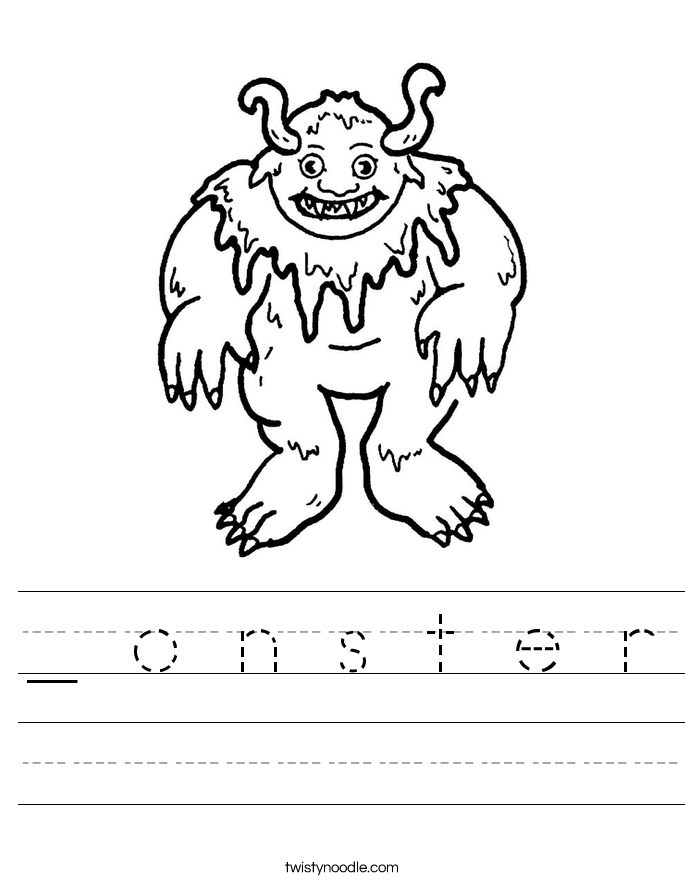 _ o n s t e r Worksheet