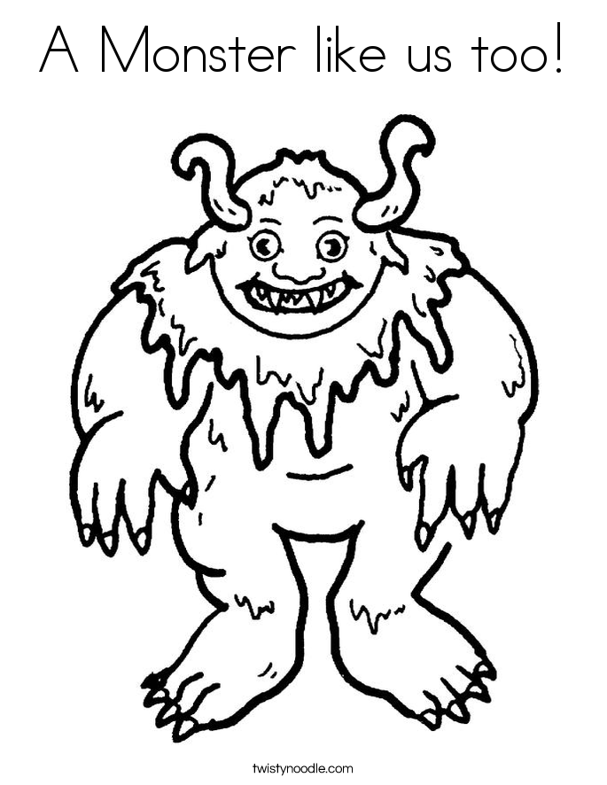 A Monster like us too! Coloring Page