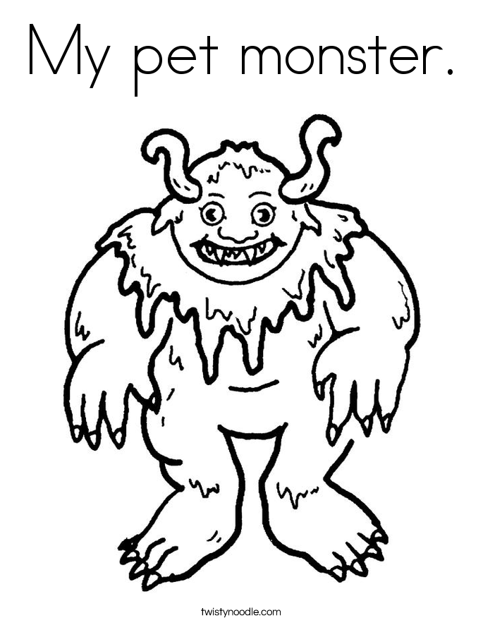 My pet monster. Coloring Page