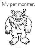 My pet monster.Coloring Page
