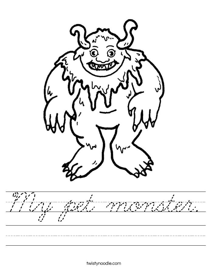 My pet monster. Worksheet