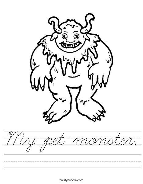 Monster Worksheet